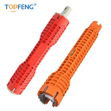 TopFeng (8-in-1) faucet and sink installer,multi-purpose wrench plumbing tool for Toilet Bowl/Sink/Bathroom/Kitchen Plumbing faucet and sink installer tool kitchen and bathroom tool multifunctional pipe wrench drop shipping