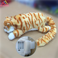 Sermoido Electronic Pets Robot Laughing Cats Cute Interactive Cat Electronic Toy Poodle Pekingese Toys For Kids