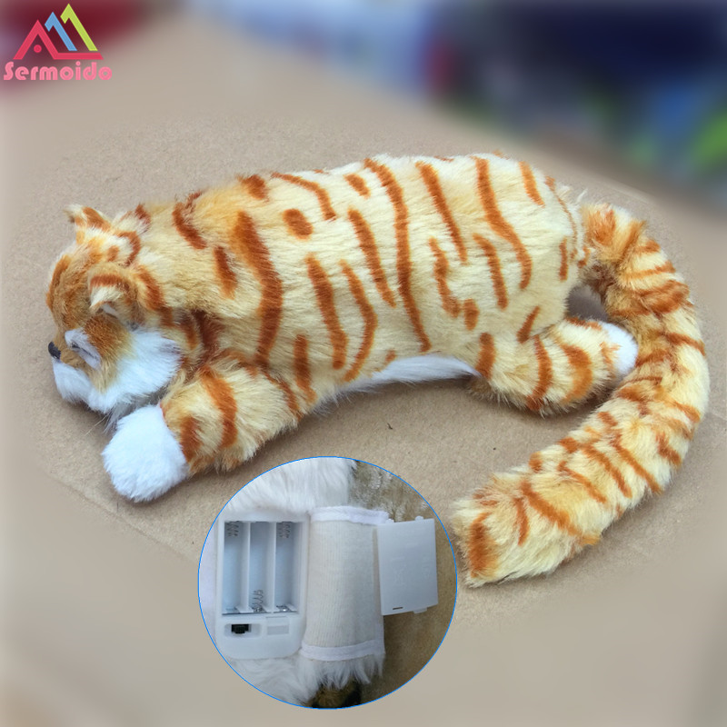 Sermoido Cat Electronic Pets Robot Laughing Cats Cute Interactive Cat Electronic Toy Poodle Pekingese Toys For Kids B233