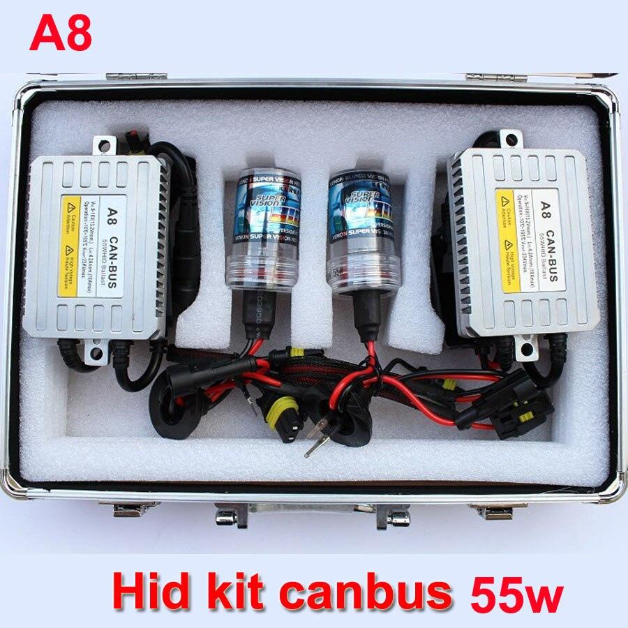 ФОТО auto headlight hid xenon kit canbus 55W hid kit h1 h3 h4 h7 9005 h11 9006 hb3 hb4 9012 hid conversion kit for headlamp fog light