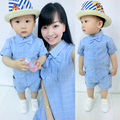 Family fashion summer tendrils 2016 clothes for mother and son clothes for mother and daughter set one-piece dress family pack