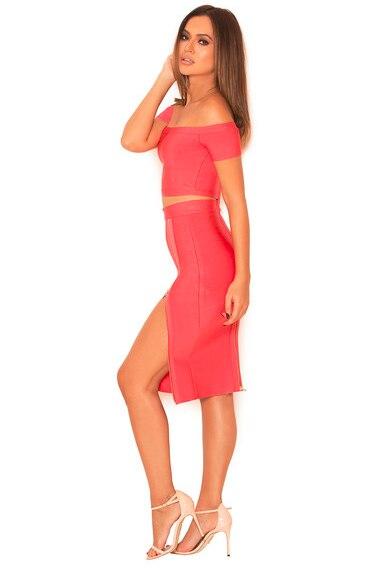 Tenue Encolure Red Solide Sexy De Moulante Femmes Rayonne Body Hip Combinaisons Deux Bandage Club 2019 Salopette Vêtements Pièces Zipper q07wA