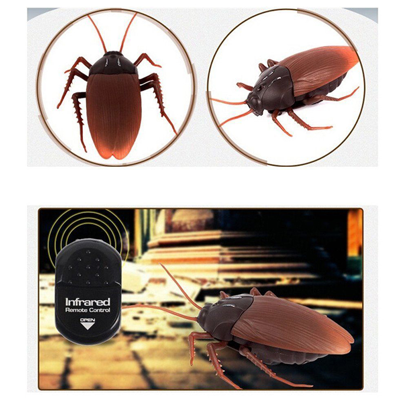 Novelty & Gag Toys Gags & Practical Jokes Infrared Simulation Spider Ants Cockroaches Remote Control Insect Toys Electric Rc Toy Christ Gift For Adult Prank Insect#259203