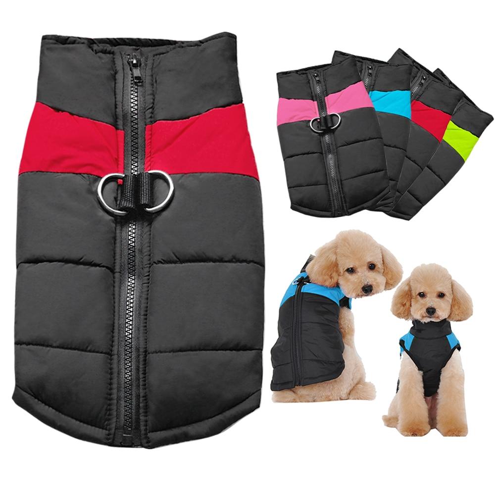 Winter Hund Kleidung Mantel Wasserdichte Warme Haustier Weste Jacke Chihuahua Französisch Bulldog Kleidung Kleine Hunde roupas para cachorro