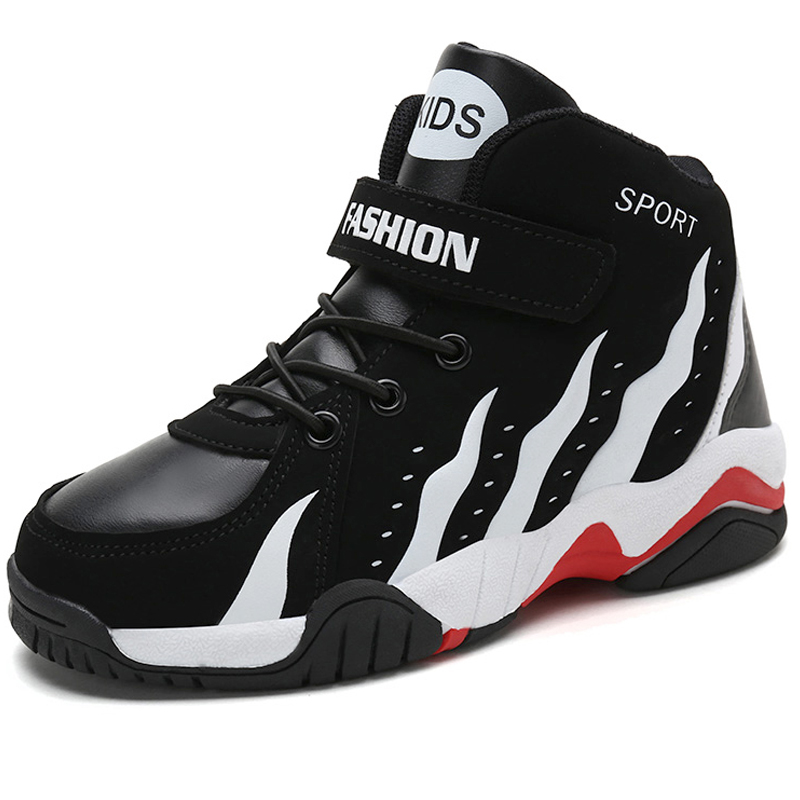 a2625540334 High Top Non-slip Kids Sneakers Children Basketball Shoes Outdoor Rubber  Sport Boys Trainer Shoes Black Basket Ball Shoes Child