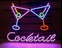 Custom Cocktail Martini Beer Glass Neon Light Sign Beer Bar