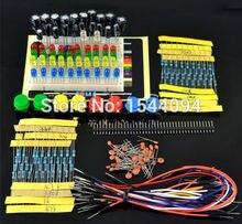 1 set Portable Kit Resistor LED Capacitor Jumper Wires Breadboard for Arduino Handy Starter Kit