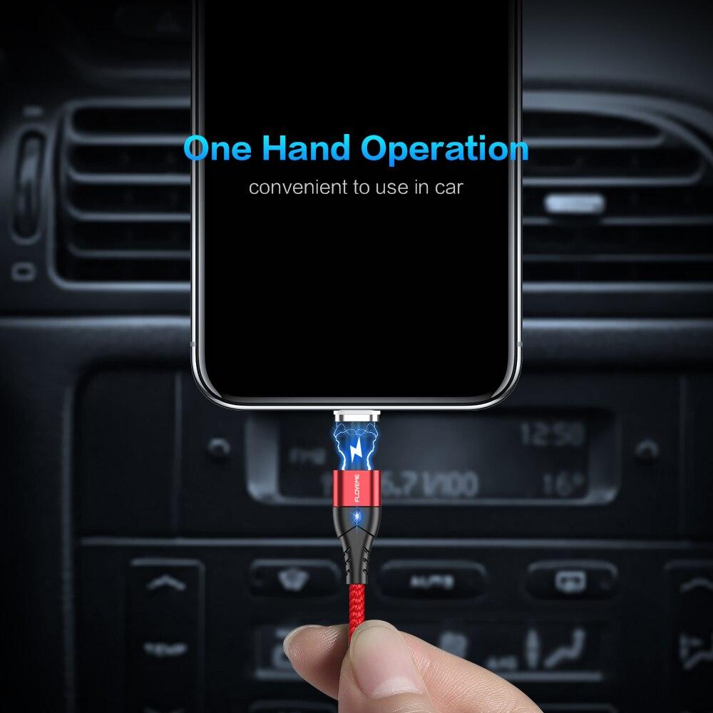 Câble magnétique de micro USB  type C, marque Floveme pour iPhone, Android et Xiaomi 3