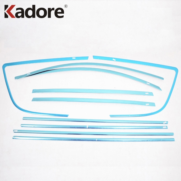 For Toyota RAV4 <font><b>RAV</b></font> <font><b>4</b></font> 2009 <font><b>2010</b></font> 2011 Stainless Steel Car Window Trim Frame Moulding Cover Sticker Exterior Accessories image