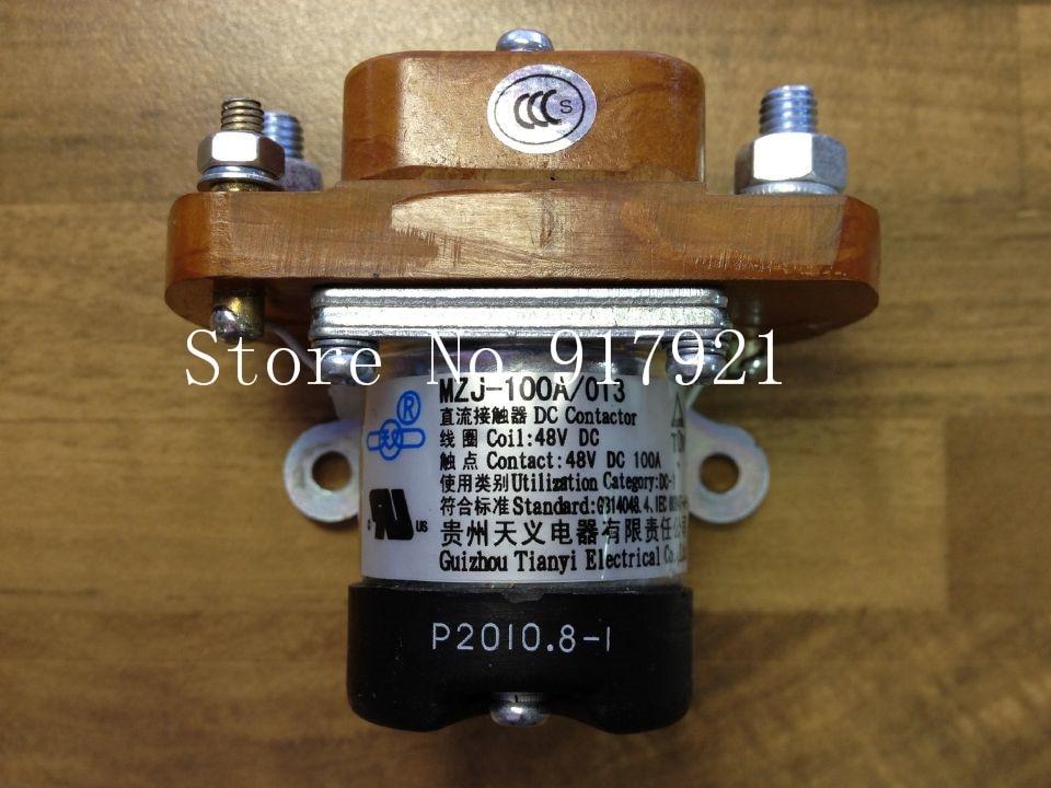 [ZOB] Guizhou Tianyi new MZJ-100A/013 DC contactor relay 100A DC48V  --5pcs/lot new cad50bdc dc24v tesys d series contactor control relay 5no 0nc