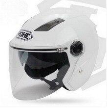 Новый YOHE объектив двойной пол-лица мотоциклетный шлем Вечная электрический велосипед мотоцикл шлемы, изготовленные из ABS YH837A РАЗМЕР M, L, XL, XXL