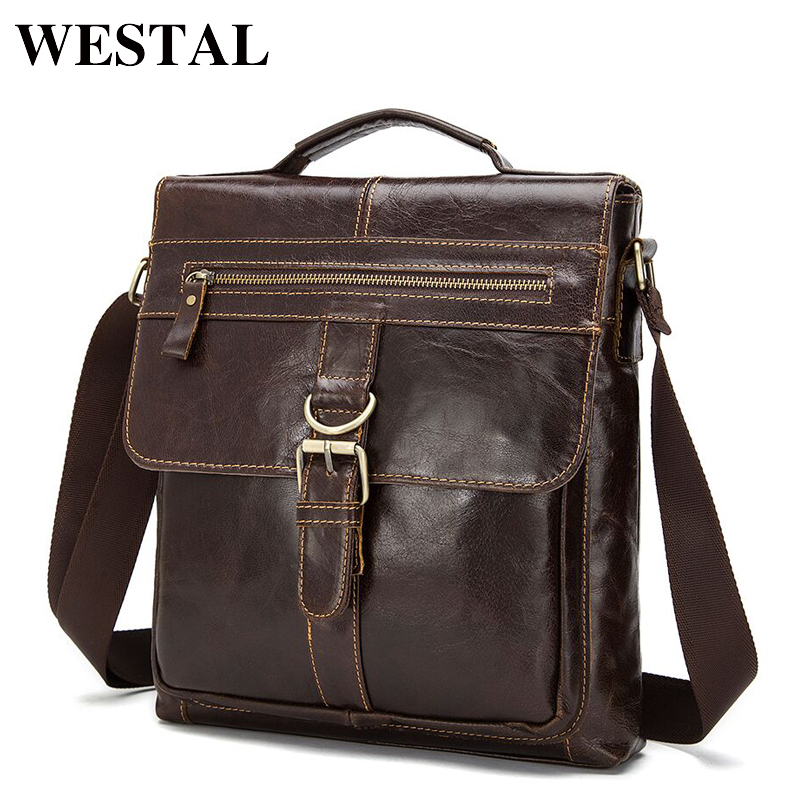 WESTAL Genuine Leather Bag Men