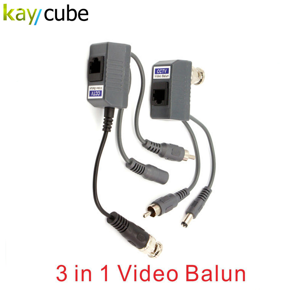 UTP BNC RJ45 cat5 Passive Video Balun Exceptional Interference Rejection Long-distance Transmission bnc м клемма каркам