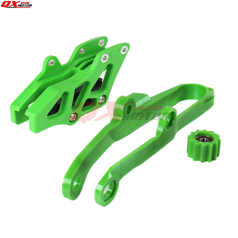 Free shipping Chain Slider Swingarm Guide Lower Roller Rear Chian Guide Guard Kits For WR250F WR450F YZ250F YZ450F NEW Green in Falling Protection from Automobiles Motorcycles