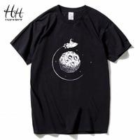 HanHent Креативный дизайн астронавт Исследуйте Луну Футболка мужская хлопковая Повседневная тонкая футболка Топы 3d принт забавная футболка ч...