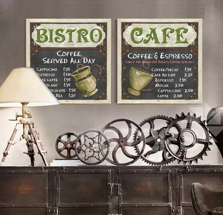 Gray Coffee Catalog Canvas Wall Art Home Decoration Painting The Living Room Office Picture Cafe Bar Cuadros Modernos Poster