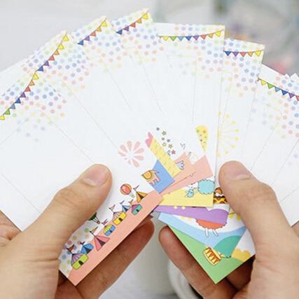 10 Pcs Cartoon Print Photo Sticker Albums Decorative DIY Scrapbook Paper Photos Frame Stickers For Instax Mini Film Home Decor