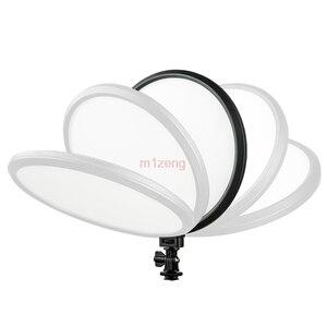 Image 3 - 500 T 25 W mince bi couleur Dimmable LED anneau vidéo Flash lumière pour Canon nikon pentax caméra prise de vue YouTube vidéo spectacle en direct