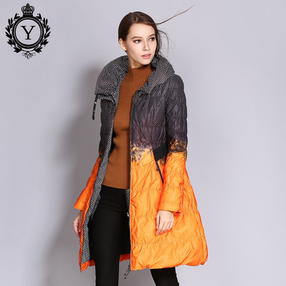 COUTUDI Wholesale Women Down Jacket Big Size Long Printed Parkas Winter Women s Quilted Coat Outwear