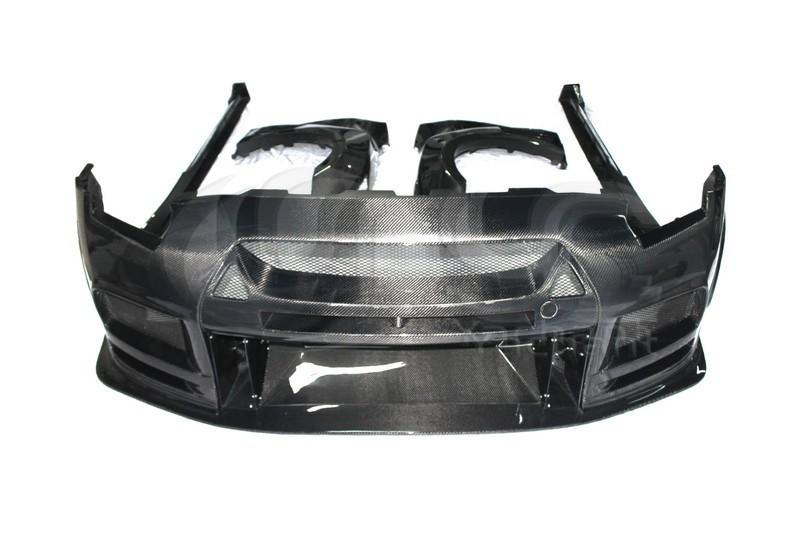 2008-2013 Nissan  R35 GTR CBA DBA TP Style Wide Boky Kit CF (1)