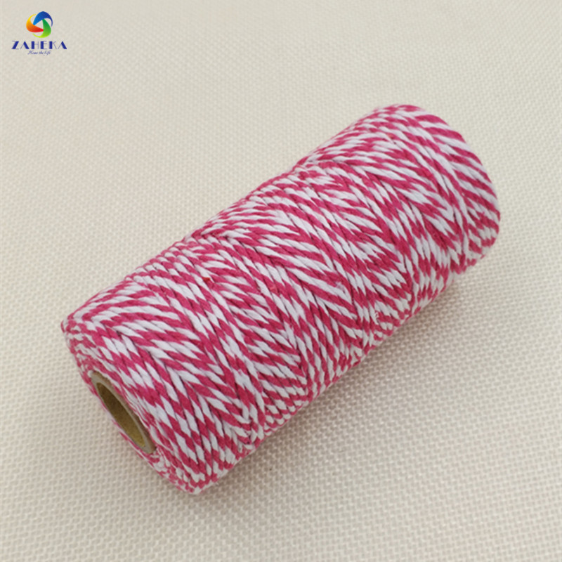 EIEYO 100 Meters Double Color Cotton Baker Twine Rope for DIY - Arts, Crafts and Sewing - Photo 6