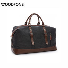 Original Z.L.D Canvas Leather Men Travel Bags Carry on Luggage Bags Men Duffel Bags Travel Tote Large Weekend Bag Overnight