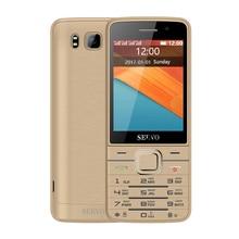C четырьмя SIM-картами 2.8-дюймовый HD большой экран 4 sim-карты 4 резервный телефон с двойной Камера GPRS Bluetooth вибрации MP4 телефон Servo v9500
