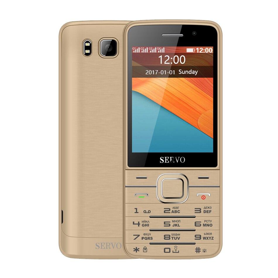 Quad SIM Cartes 2.8 pouce HD Grand Écran 4 SIM cartes 4 veille téléphone avec Double Caméra GPRS Bluetooth vibration MP4 Servo V9500