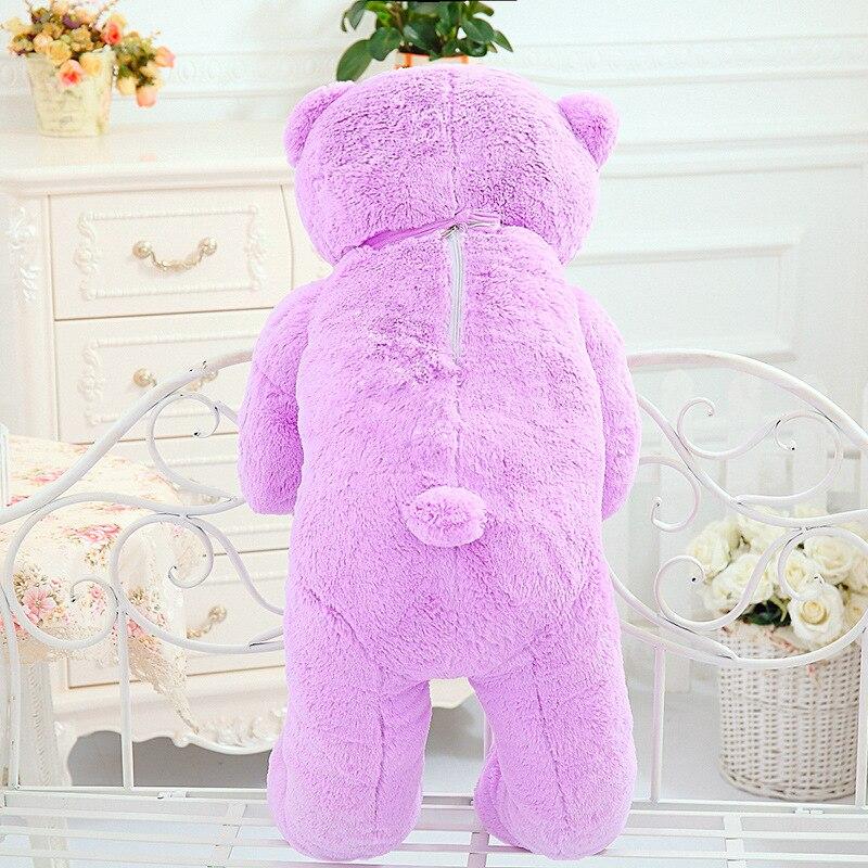 High Quality 140CM big giant purple teddy bear animals plush stuffed toys children kid dolls girls Christmas vanlentine gift - 4