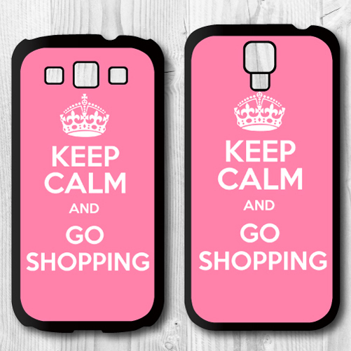For Samsung Galaxy S4 i9500 S3 i9300 Black Hard Cover Case - Keep Calm And Be A Princess (Pink Style) P852