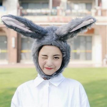 Шапка серый кролик