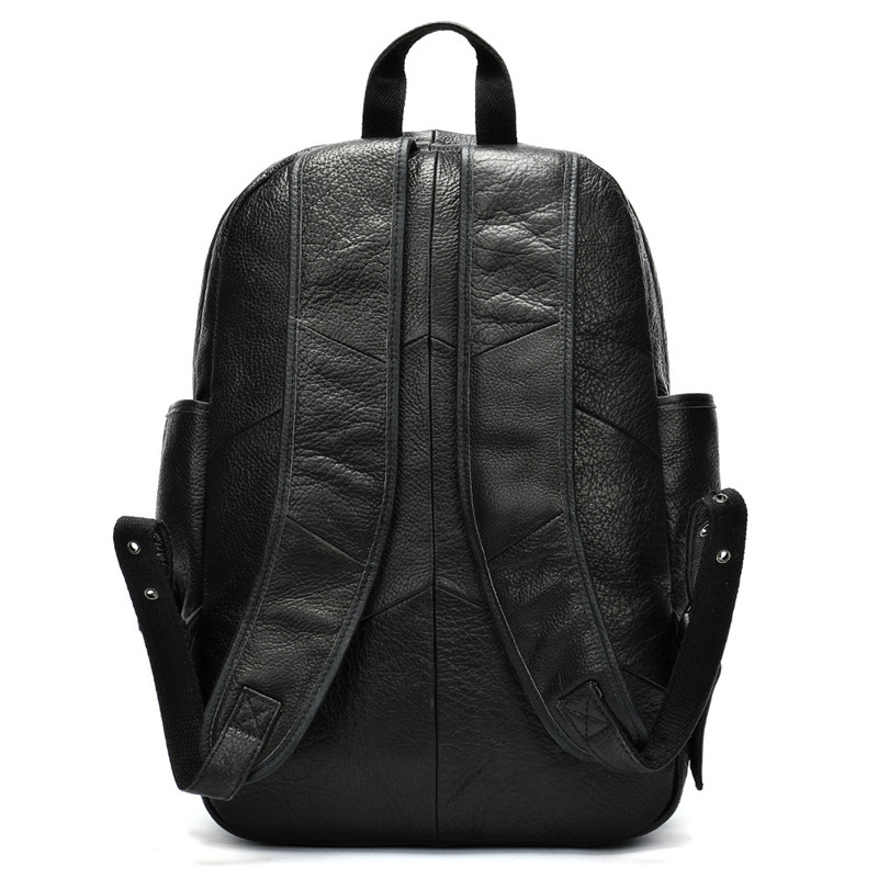 Leather men 39 s outdoor leisure sports travel backpack large capacity computer backpack lychee pattern backpack in Backpacks from Luggage amp Bags
