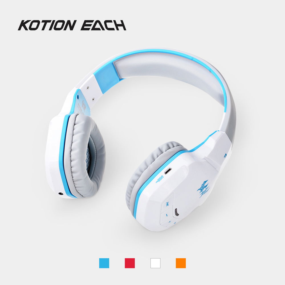 KOTION EACH B3505 Gaming Headset Bluetooth 4. 1 Stereo Headphones with Mic Volume Control Handsfree Game Earphone for iPhone PC edal wireless stereo bluetooth gaming headset headphones earphone handsfree with mic for ps3 smartphone tablet pc