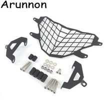 Arunnon Motorcycle Front Headlight Grill Grille Guard Cover Protector For BMW G310GS G310R 2017-2018 Stainless Steel