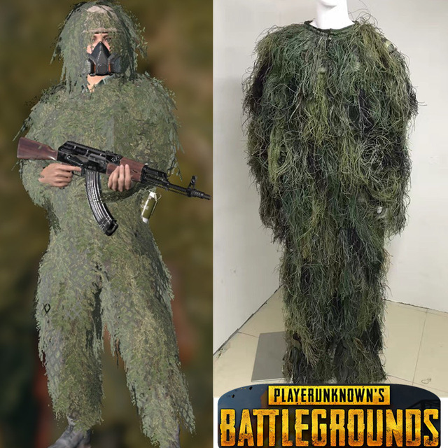 BAG Halloween Game costume Playerunknown Battlegrounds PUBG Ghillie Suit Cosplay costume Camouflage clothing
