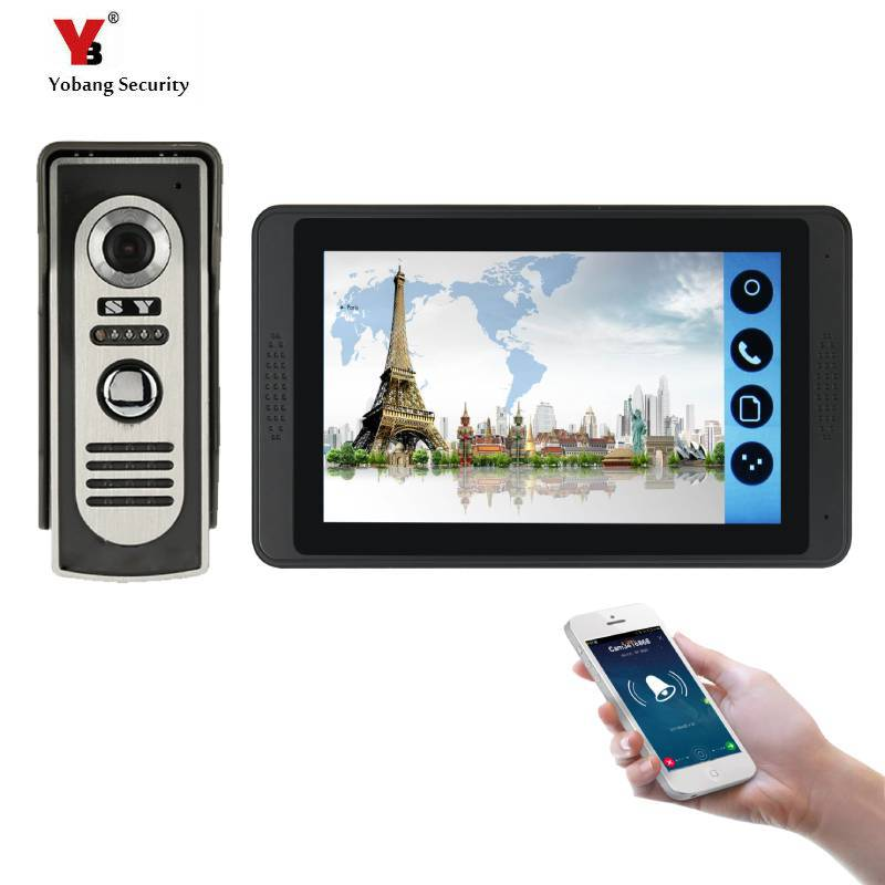 7inch Monitor Wired WIFI Video Door Phone Doorbell Intercom Entry System Support Night Vision Phone APP Remote Intercom