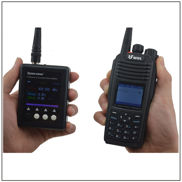 US $49 99 |SF 401Plus 27MHz 3GHz SURECOM Portable Frequency Counter with  CTCSS/DCS Decoder(Analog & DMR Digital Radio Signal both testable)-in  Walkie