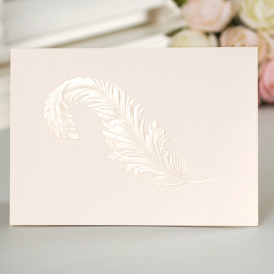 12set fairy tale theme feather Card leave message cards Lucky Love