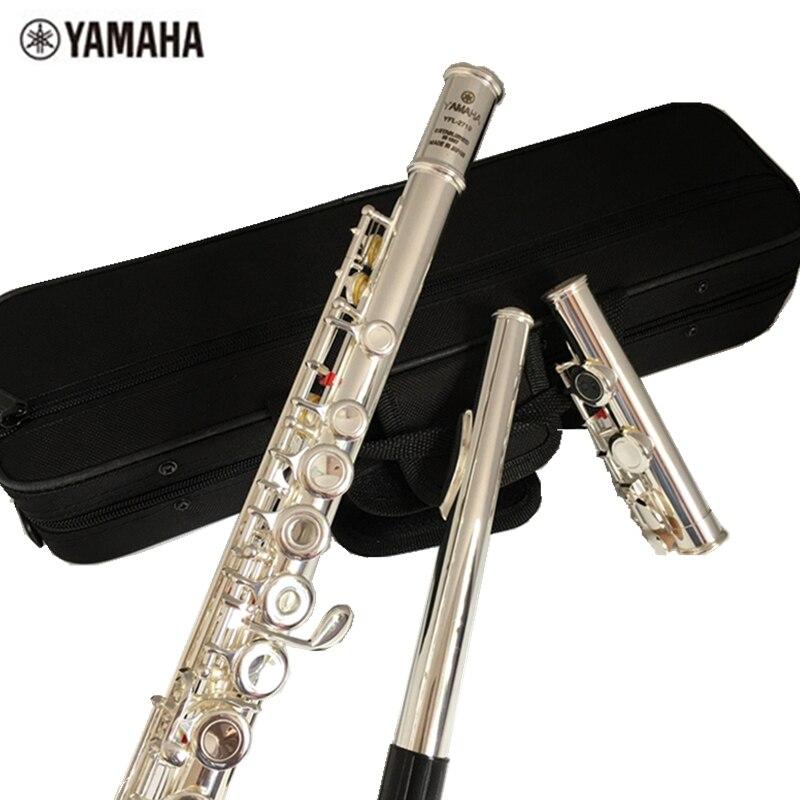 Top Japon flûte YFL 271 16 trou Standard Nickel Argent Étudiant transversale Flûte obturateur C Clé avec la touche E Bambou flûte