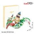 Cubicfun 3D Головоломка OC3201 Lodon Городской Пейзаж Модель Строительства, архитектурные Особенности Вкус Ручной Головоломки 3D Игрушки, малыш Игрушки