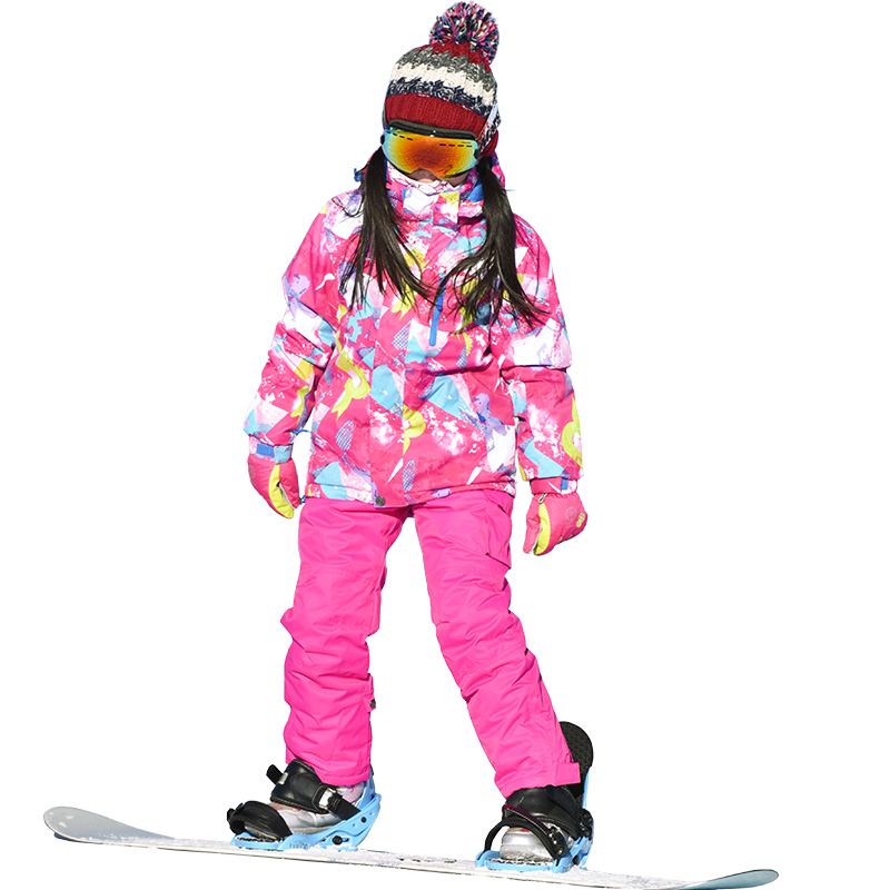 Marsnow Ski Suit winter Jacket+Pants 110-160 New waterproof keep warm Outdoor Thicken Children kids winter snow set for girlsMarsnow Ski Suit winter Jacket+Pants 110-160 New waterproof keep warm Outdoor Thicken Children kids winter snow set for girls