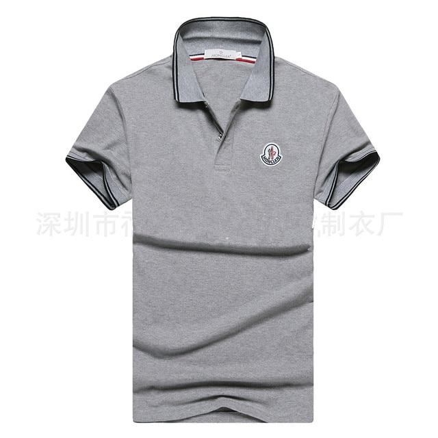 2017 men's short sleeve POLO shirt hot summer fashion high-grade Business leisure pure color breathable comfortable POLO shirt
