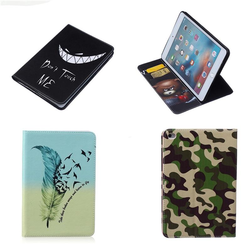 BF 2016 PU Leather Case With Card Slots Funda For Ipad Mini 4 Case Stand Protector Case For Apple iPad mini4 capa Drop Shipping