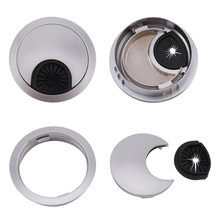 50mm 60mm Dia Desk Table Grommet Cable Hole Cover Home Office Computer Desk Wire Hole Cover Alloy Metal Cable Outlet Port(China)