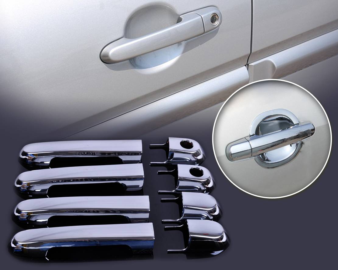 DWCX car-styling ABS Plastic Chrome Door Handle Cover Trim for Hyundai Accent 2007 2008 2009 2010 2011 car auto accessories rear trunk trim tail door trim for subaru xv 2009 2010 2011 2012 2013 2014 abs chrome 1pc per set