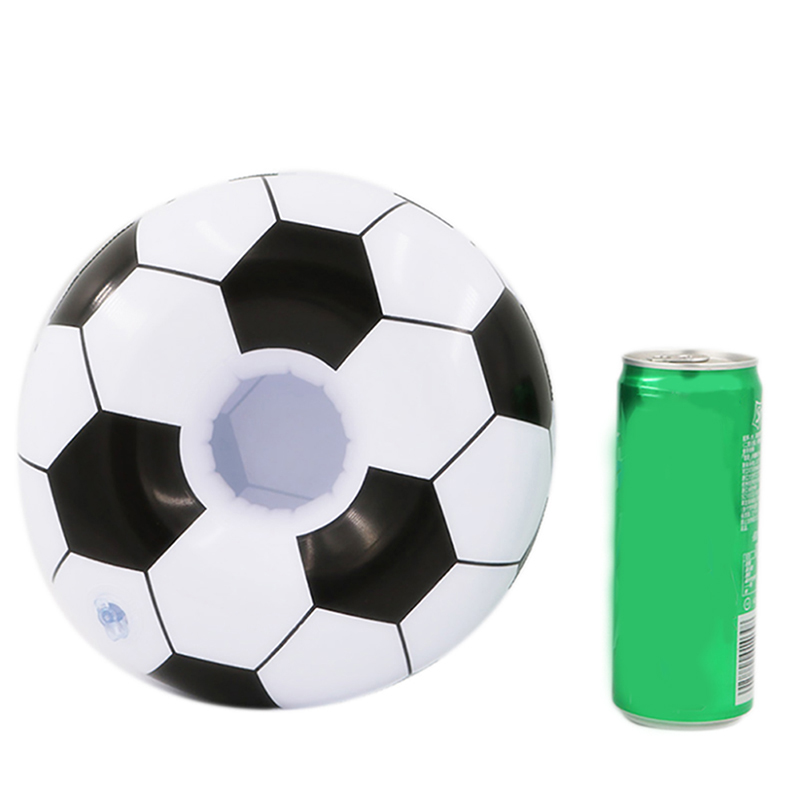 1pc Inflatable Football Drink Pool Float Inflatable Cup Coasters Cola Beverage Cup Holder For Swimming Pool Beach Party