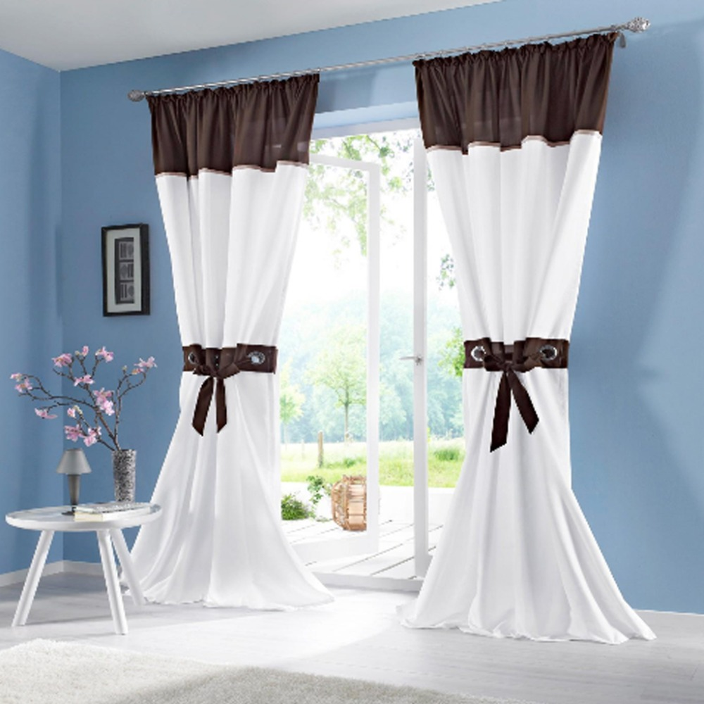 Rustic Curtains For Living Room Us 15 34 2016 New Rustic Curtain Cloth Patchwork Living Room Window Lace Curtains For Bedroom Window In Curtains From Home Garden On