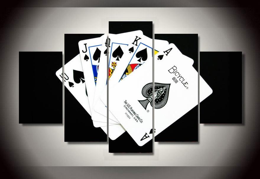 ©Новинка 2017 года Unframed Отпечатано флеш покер ...
