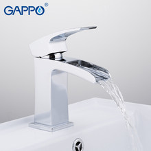Gappo Basin Kran Griferia Kamar Mandi Basin Mixer Chrome Deck Mounted Tap Air Terjun Kuningan Basin Keran Air Keran(China)