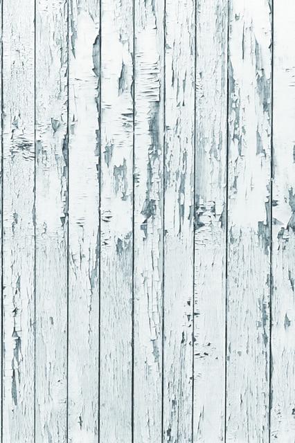 Various Sizes White Peeling Plank Backdrop Emulational Wood Floor